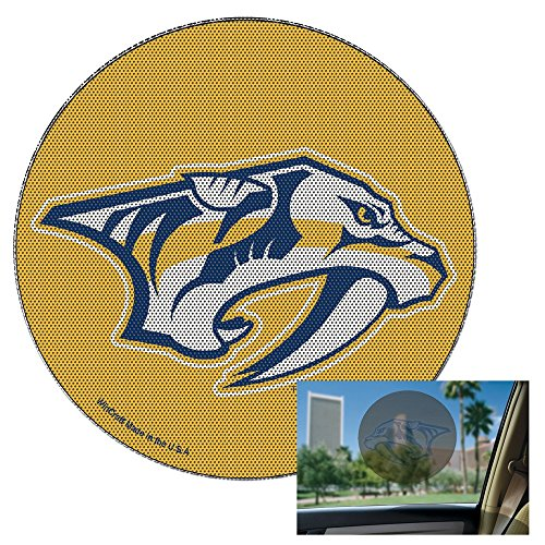 WinCraft NHL Nashville Predators Perforated Vinyl Decal, 12