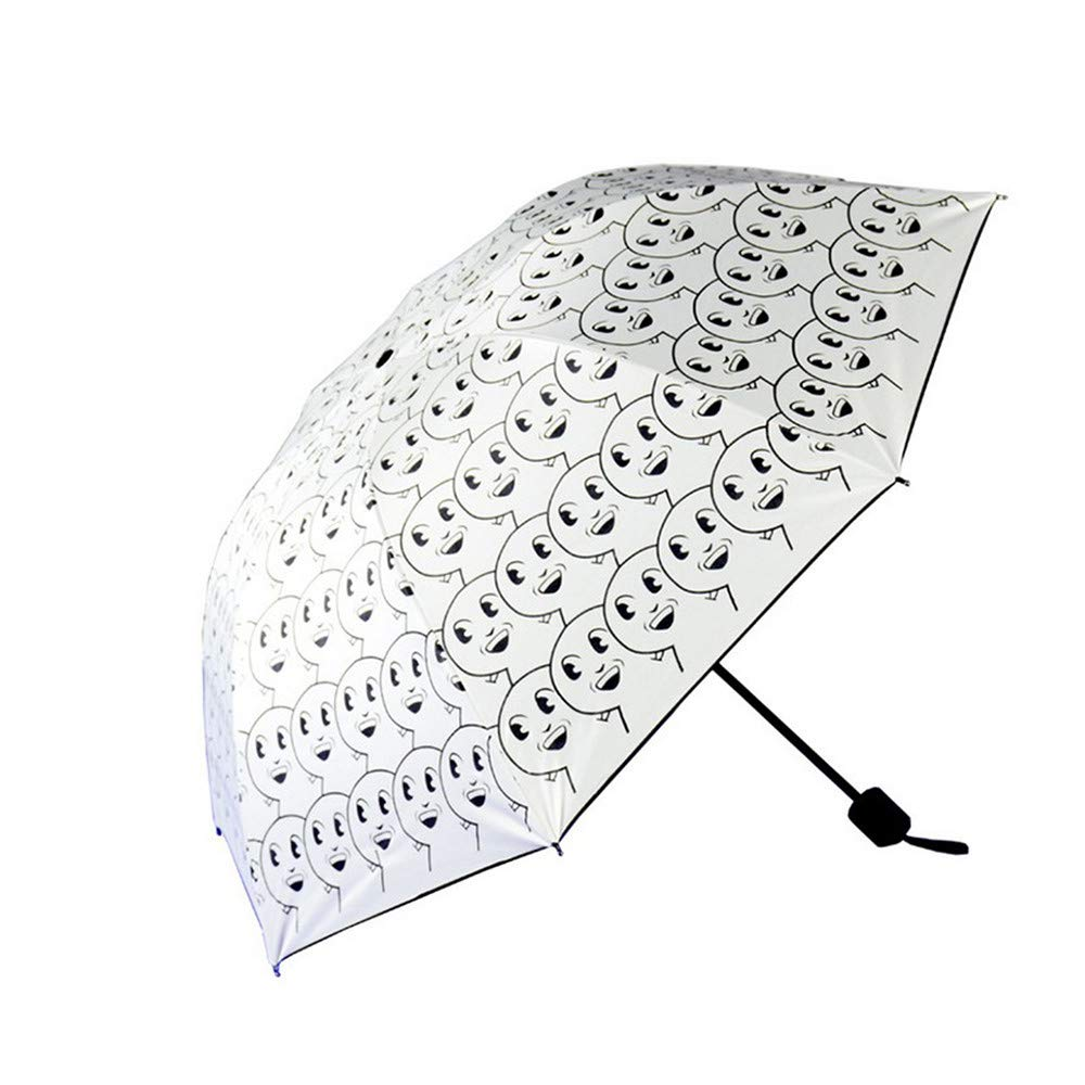 HULKAY Upgrade Ribs Auto Open/Close Windproof Umbrella Waterproof Travel,Portable Umbrellas With Ergonomic Handle(White) by HULKAY (Image #2)