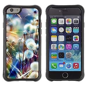 WAWU Funda Carcasa Bumper con Absorci??e Impactos y Anti-Ara??s Espalda Slim Rugged Armor -- dandelion spring summer nature -- Apple Iphone 6 PLUS 5.5