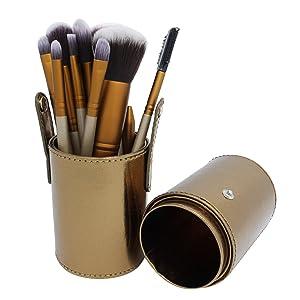 Novias New 12pcs/set Makeup Cosmetic Brushes Set Professional Powder Foundation Eye shadow Lip Brush Tool with Box Cosmetics Brushes Kit Tools Set