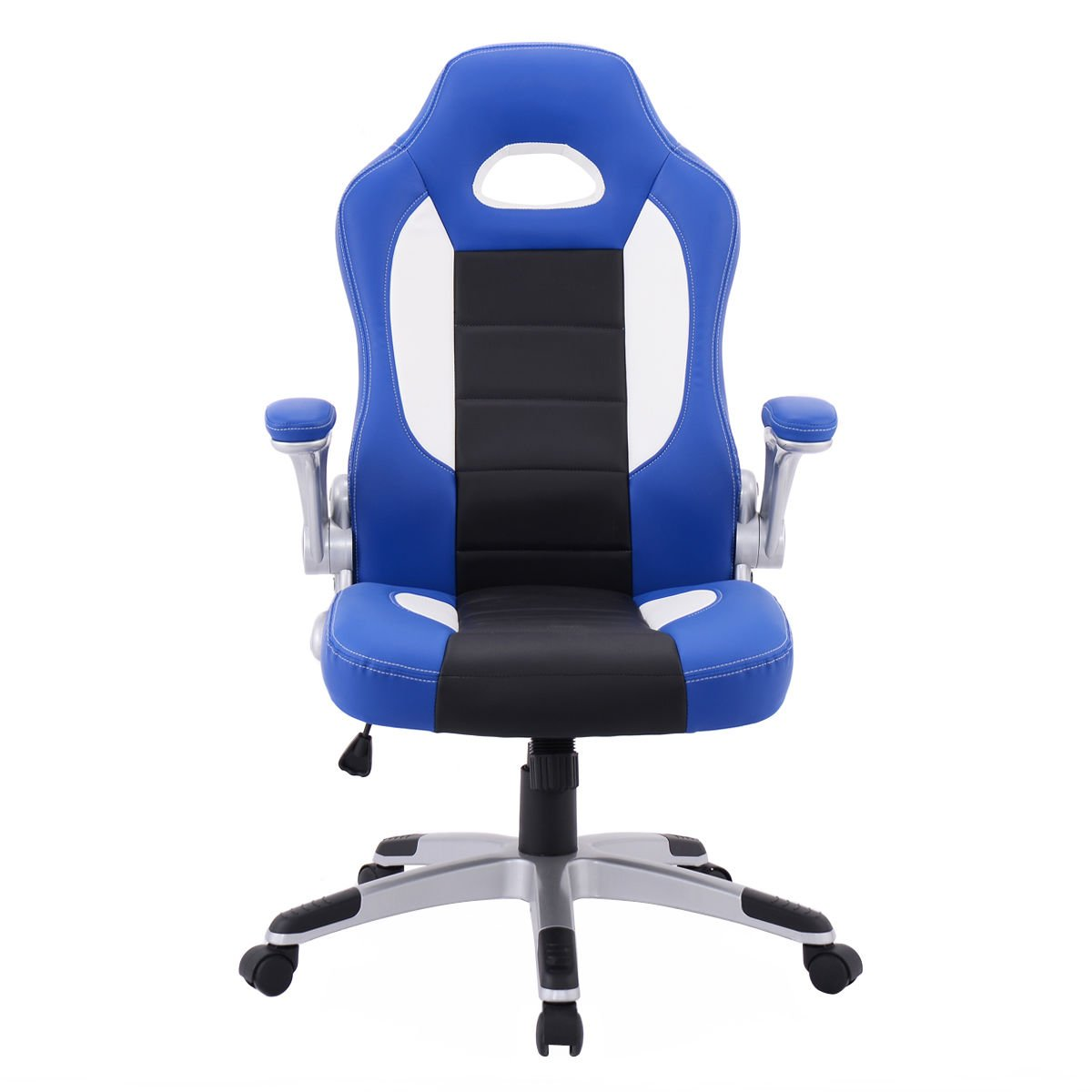 Amazon.com : PU Leather Executive Racing Style Bucket Seat Chair ...
