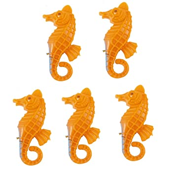 sourcingmap Plástico Pecera Emulational Decoración de Muebles de Caballito de mar, Color Naranja, 5 Piezas: Amazon.es: Productos para mascotas
