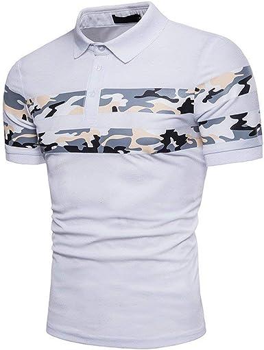 Hombre Polo Camisa para De Verano Casual Sport Camuflaje ...