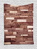 Custom Wooden Wall Floor Textured Planks Panels Picture Art Print Grain Cottage Lodge Hardwood Pattern Decor Brown Comfortable Supersoft Throw Fleece Blanket offers