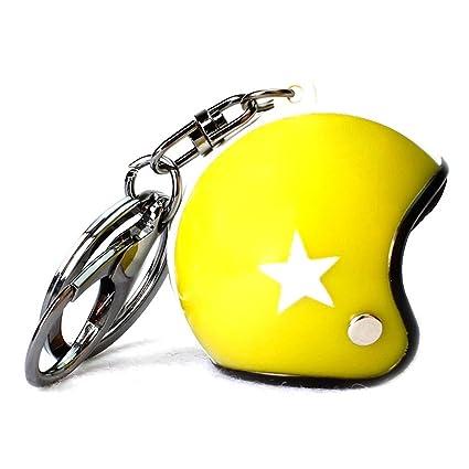 1 pc Mini bolsillo casco de moto llavero llavero llavero ...