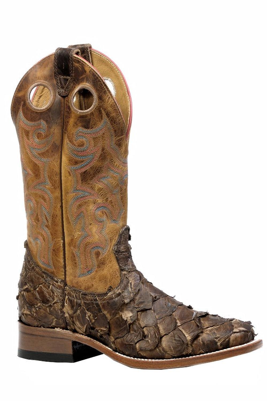 Boulet Men's Seal Pirarucu Fish Cowboy Boot Square Toe - 4536
