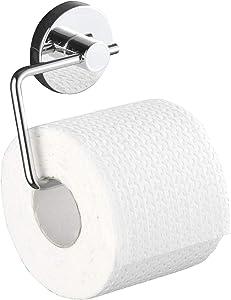 Wenko Milazzo Vacuum-Loc Toilet Paper Holder, 8.27 x 5.51 x 5.31, Chrome