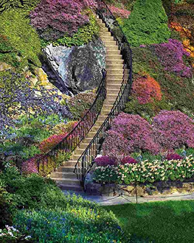 - Springbok Puzzles - Garden Stairway - 500 Piece Jigsaw Puzzle - Large 18 Inches by 23.5 Inches Puzzle - Made in USA - Unique Cut Interlocking Pieces