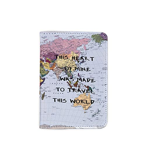 Amazon this heart of mine was made to travel this world world this heart of mine was made to travel this world world map passport holder novelty gumiabroncs Images