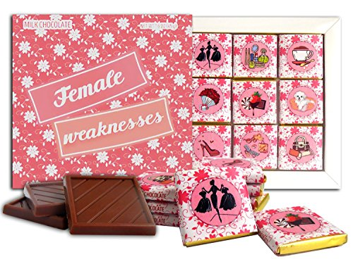 DA CHOCOLATE Candy Souvenir FEMALE WEAKNESSES Chocolate Gift Set For Your Girlfriend 5x5in 1 box (Seller)