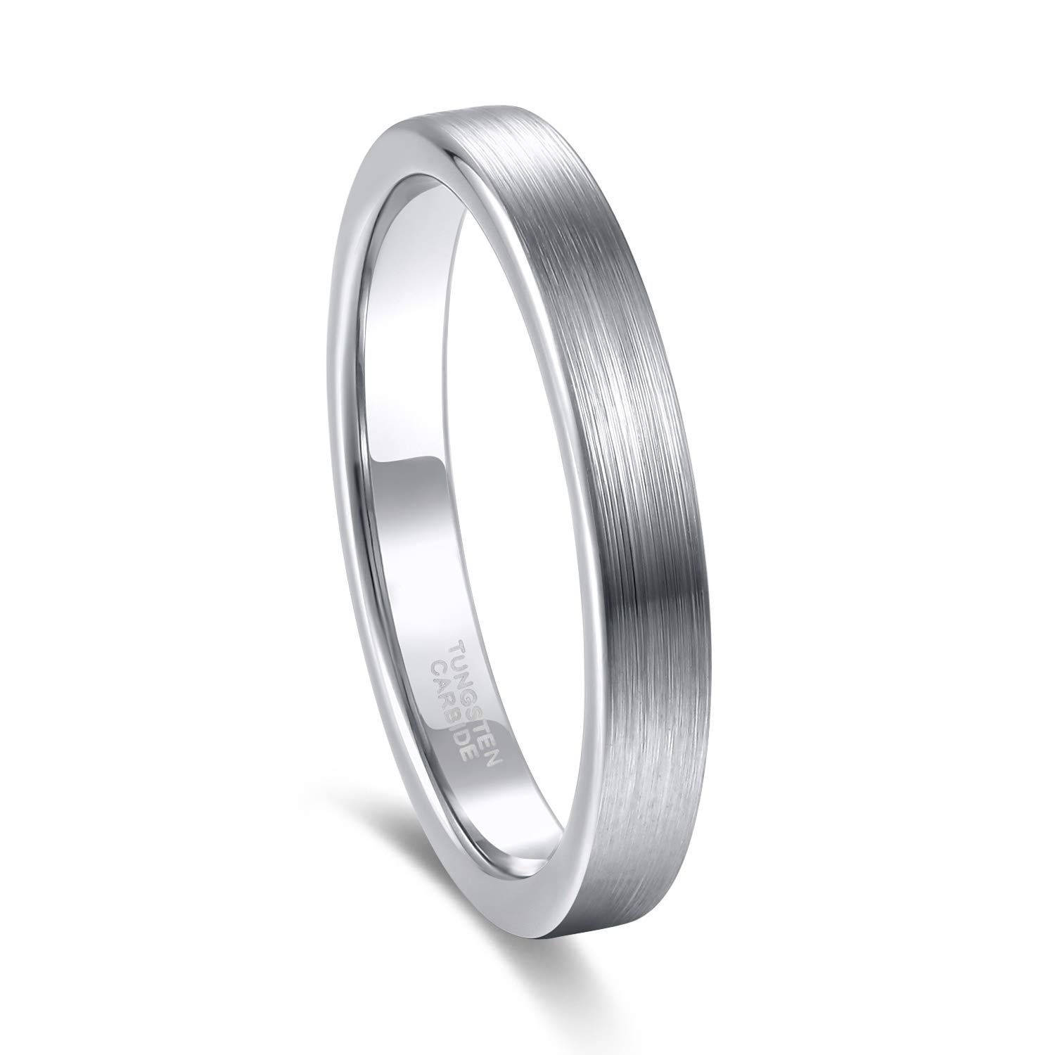 Frank Sburton 3mm 4mm 6mm 8mm Tungsten Ring For Men Women Beveled Edge Matte Silver Wedding Band Fort Fit Size 414 Amazon: Beveled Edge Matte Wedding Ring At Reisefeber.org