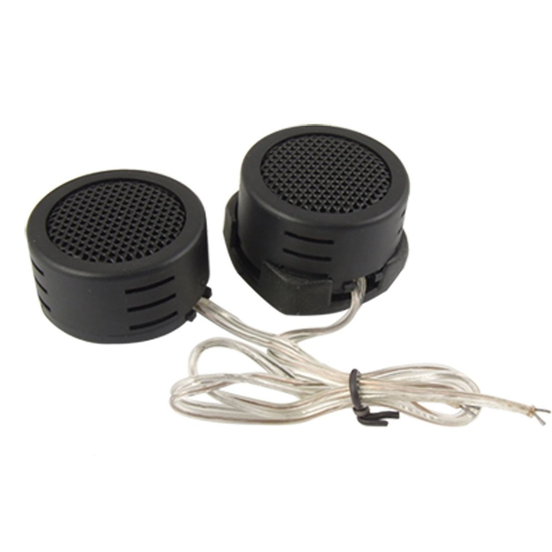SODIAL(R) 2 Pcs Black Plastic Dome Car Auto Tweeter Speakers