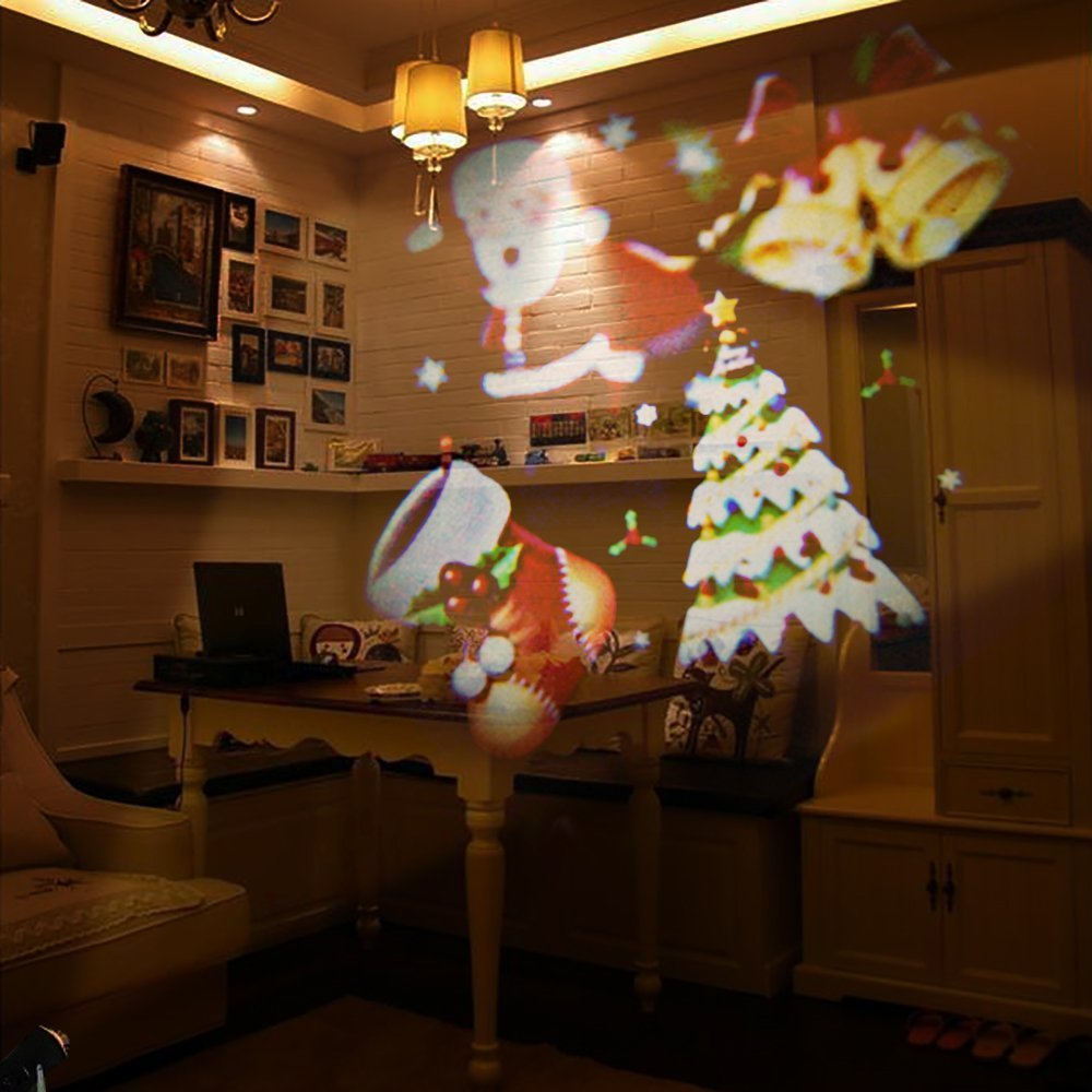 Christmas New Year's Day Valentine's Day Carnival Birthday SENQIAO Projector Light 12 Pattern LED Landscape Light Waterproof Garden Lamp Projection Lighting for Holiday, Party, Garden Decoration by SENQIAO (Image #2)