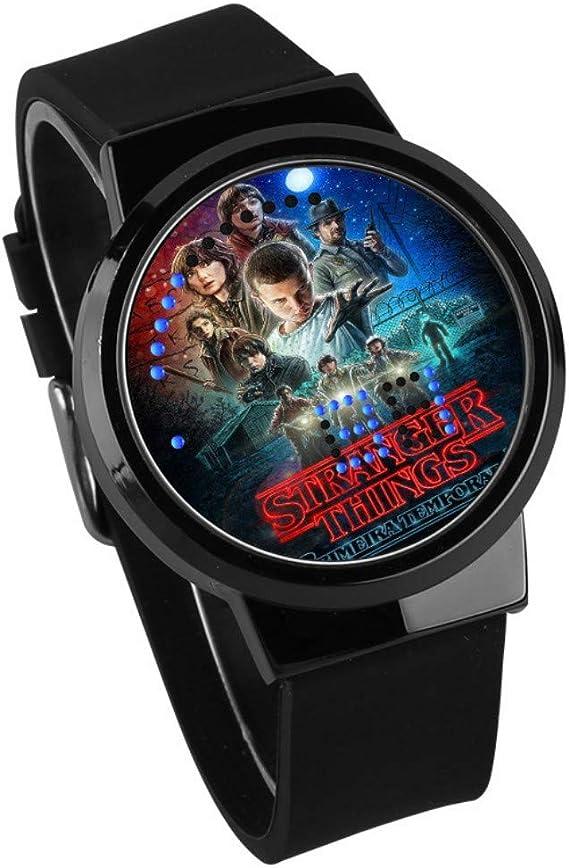 Relojes De Pulsera,Reloj Led Táctil Monster Stranger Things Periférico Personalidad Moda Calendario Impermeable Reloj E: Amazon.es: Relojes