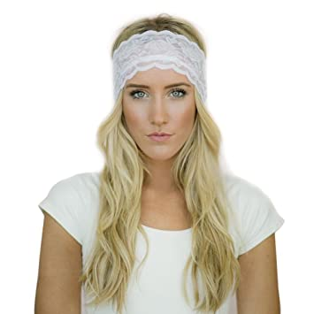 Elastic encaje Yoga Sports Headband Hairband Turban Head Band para correr