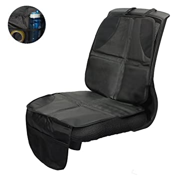 AUTO-SITZSCHONER MIT ORGANIZER Kindersitz-Unterlage ISOFIX geeignet Sitzauflage