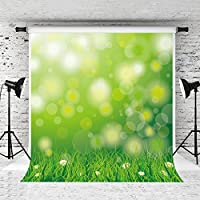Kate 5x7ft Spring Theme Background for Photography Green Glitter Photo Backdrop Photography Props