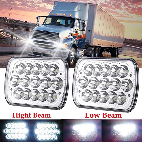 Peterbilt Day Cab (LED 7x6 Sealed Beam Headlights Hi/Low For STERLING TRUCK LT9500 M7500 A9500 DAY CAB Pack of 2, H6014 H6052 H6054 6054)