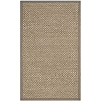 Safavieh Natural Fiber Collection NF153A Natural and Grey Area Rug, 3 x 5