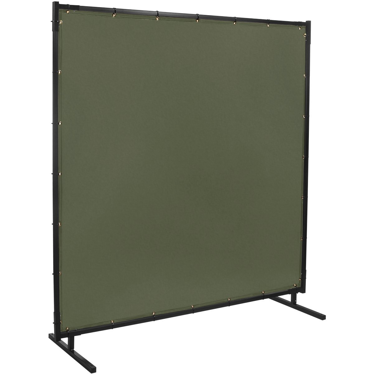 Steiner 501HD-4X5 Protect-O-Screen HD Welding Screen with Flame Retardant 12-Ounce Canvas Curtain, Duck Olive Green, 4' x 5'
