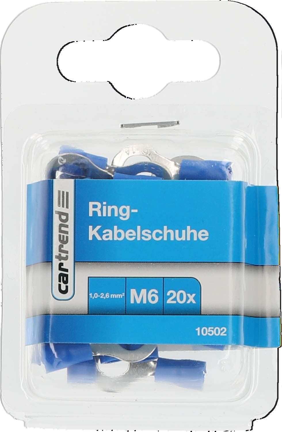 Kabelschuh Ring M8 Cartrend 10477 20 St/ück blank
