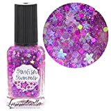 Lynnderella Limited Edition—Neon Holographic Multi Glitter Topper Nail Polish—Starfish Summer