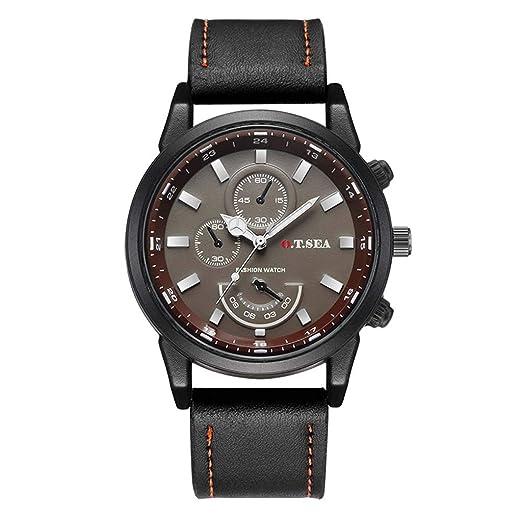 POJIETT Hombre Relojes Marcas Hombre de Lujo Reloj Caballero Deportivo Reloj Pulsera de Cuero Relojes de Cuarzo Analógicos Automatico Negocios Sport Wrist ...