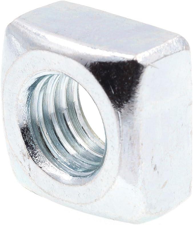 Unplated 1//2-13 Square Nuts Plain Steel Coarse Thread 100