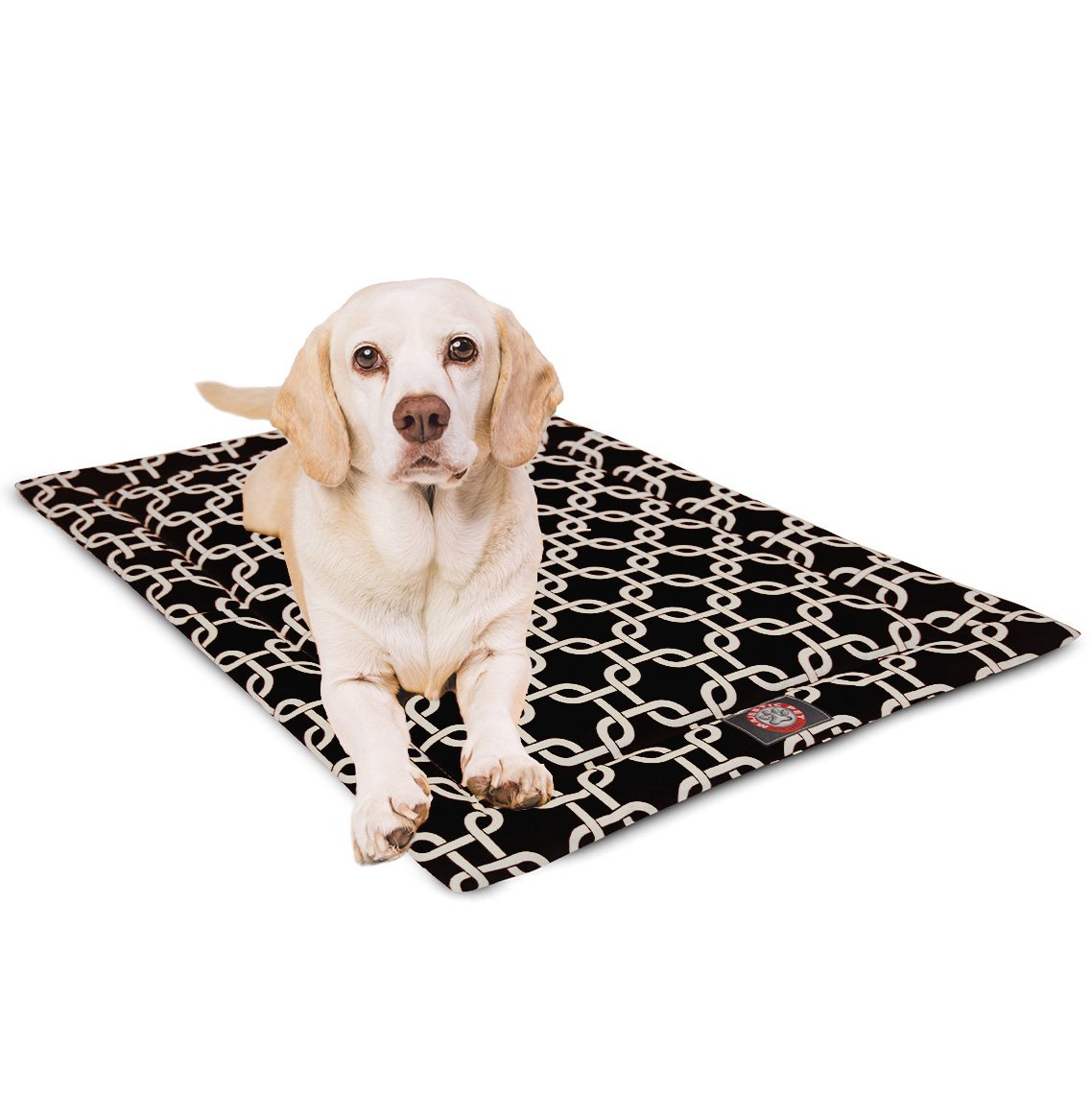 24  Links Black Crate Dog Bed Mat by Majestic Pet Products