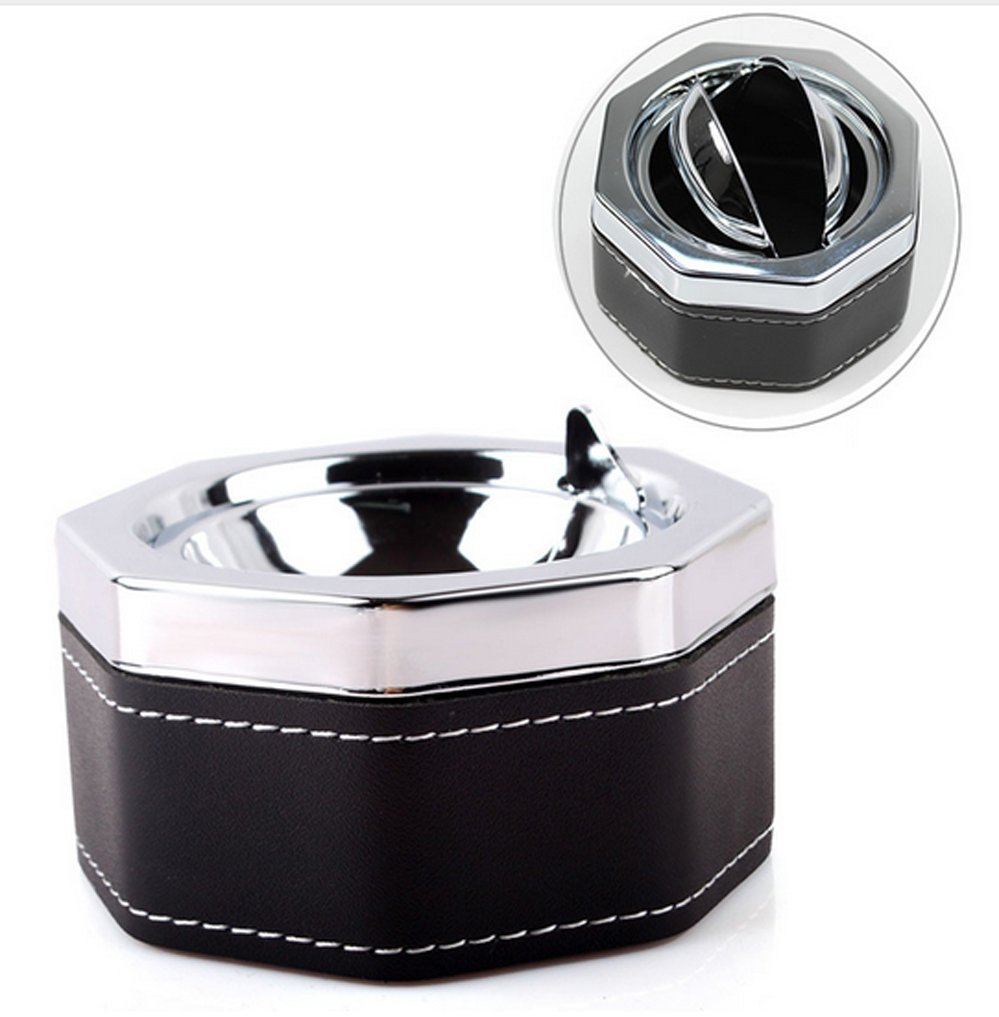 Cigarette Ash Ashtray Smokeless Holder With Lid Portable Professional