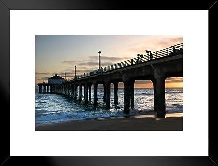 Amazon Com Poster Foundry Manhattan Beach California Pier Photo Art