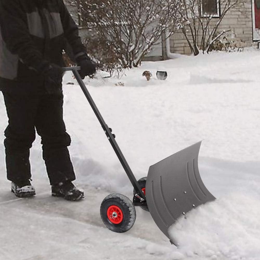 Amazon.com: Binrrio - Pala de nieve con ruedas de 29 ...