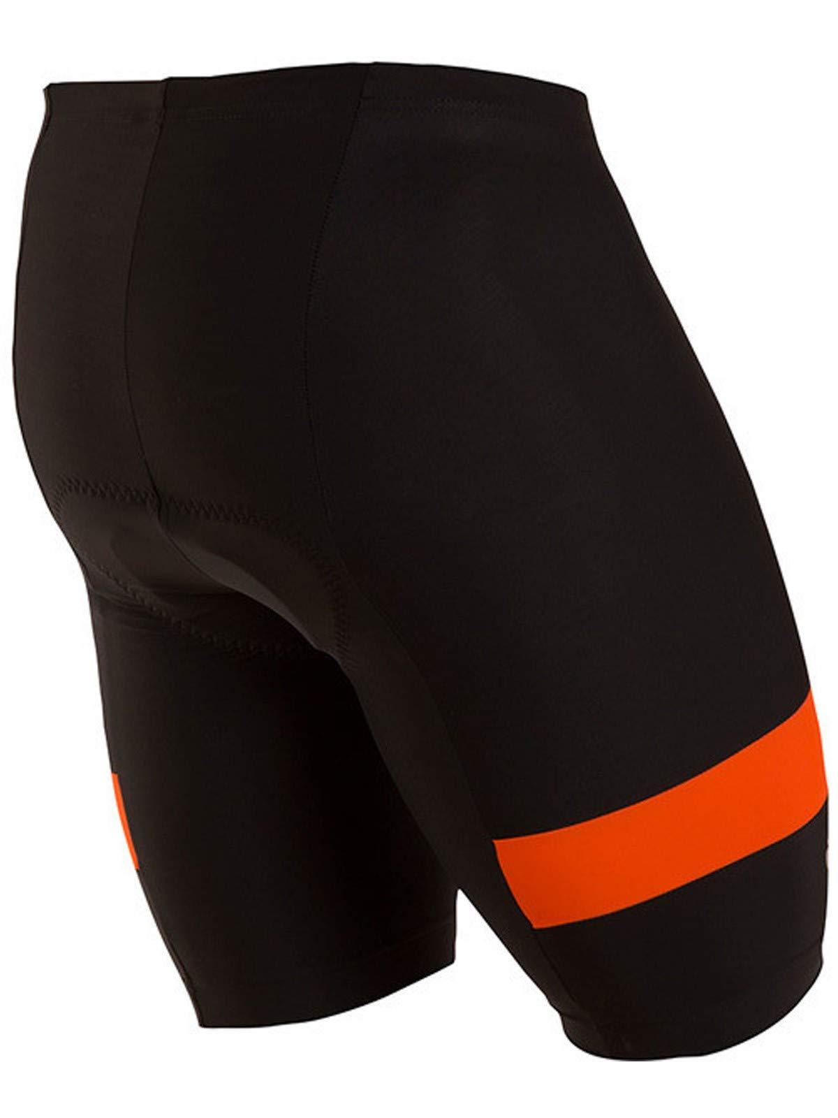 Pearl iZUMi Men's Escape Quest Splice Shorts, Black/Orange Comb, Medium by Pearl iZUMi (Image #2)