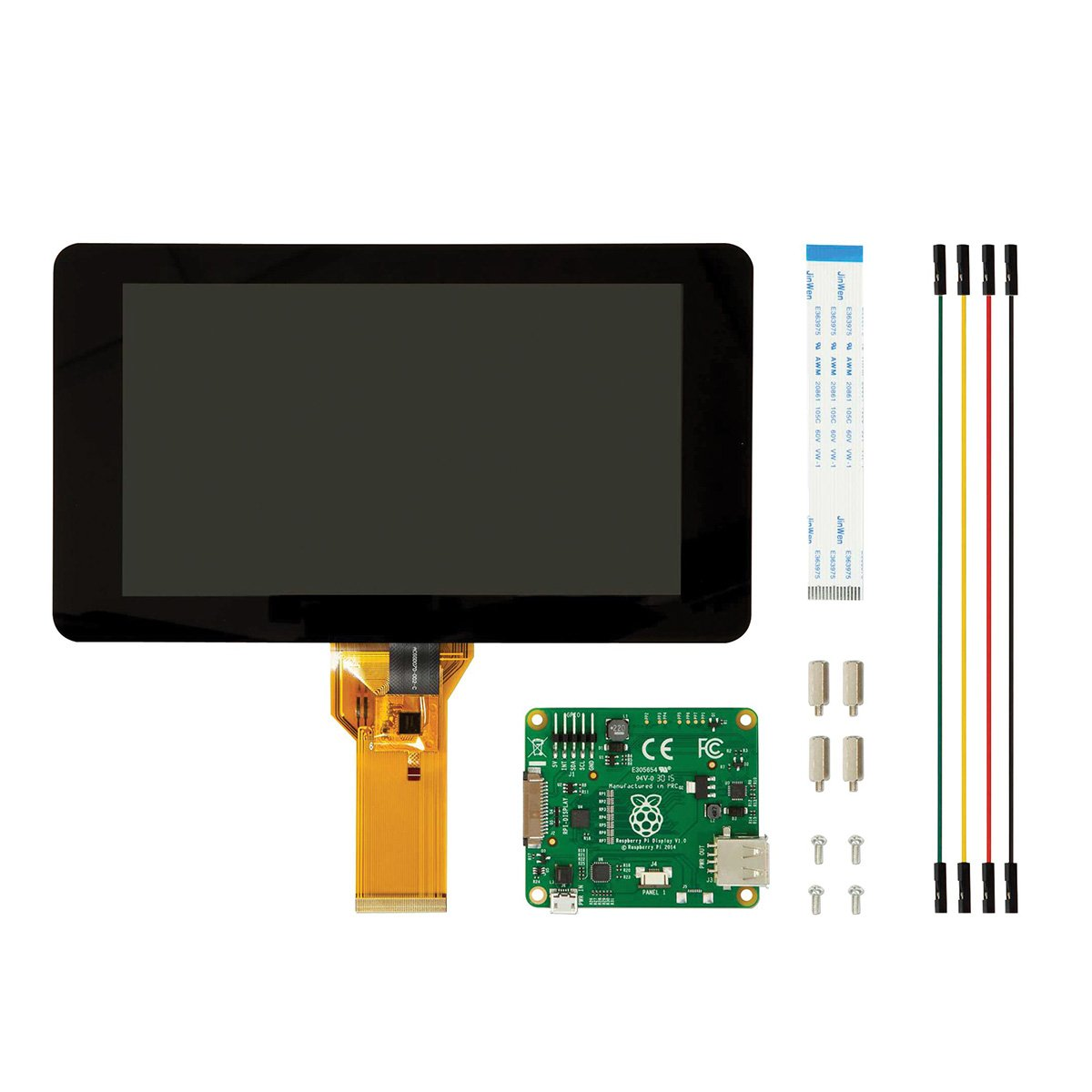 7'' 800x480 Capacitive Touch Screen Display & Matching Base Holder Kits for Raspberry Pi by OLSUS