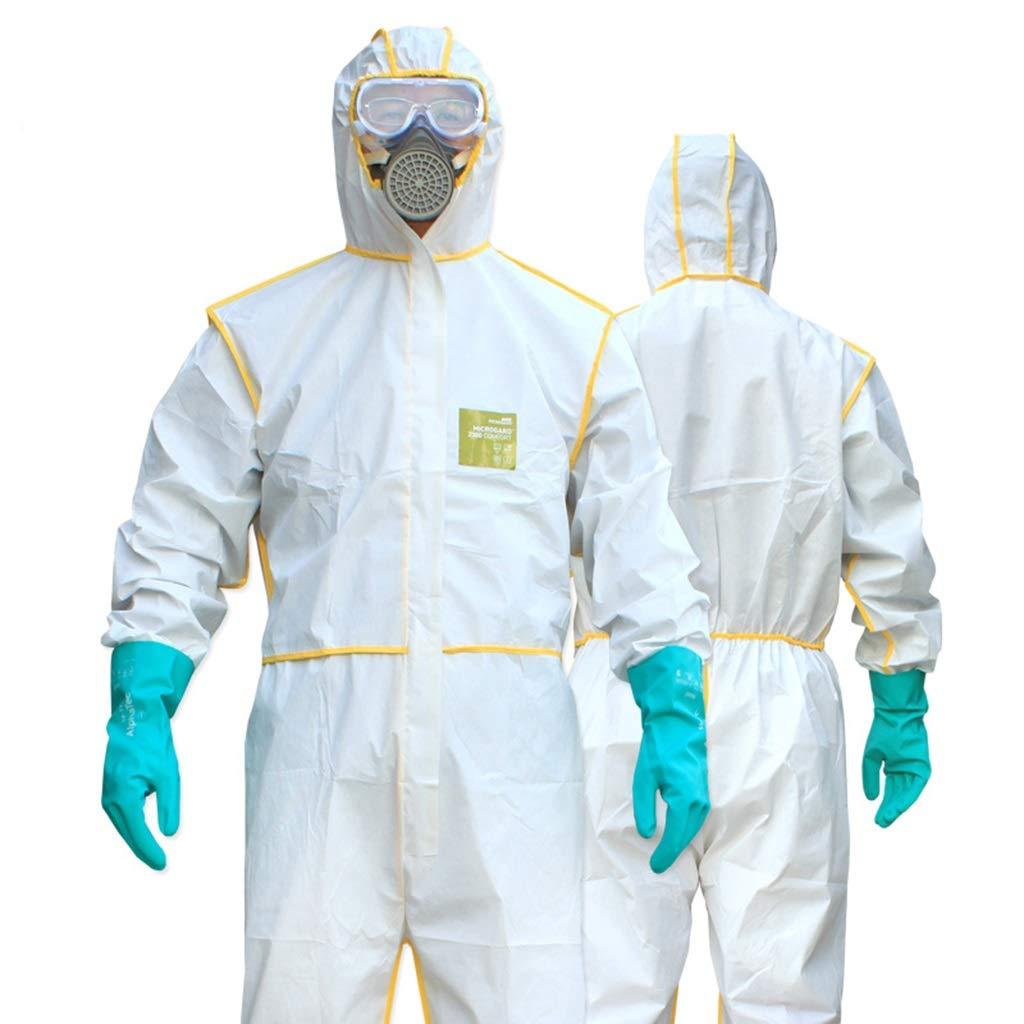 Size : S Indumenti protettivi for sostanze chimiche con set di indumenti da lavoro antiacido traspirante anti-virus e alcali TIPO 5//6