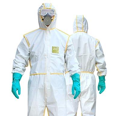 HZTWS Ropa de protección química de trabajo ligero de ...
