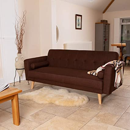 Fine Wido Brown Luxury Stylish Linen Fabric Upholstered Sofa Bed Cjindustries Chair Design For Home Cjindustriesco