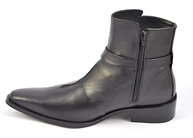 Mens Black Zip-up Boots Style 1032 Ankle High Smart Shoes Size 6 7 8 9 10  11 12: Amazon.co.uk: Shoes & Bags