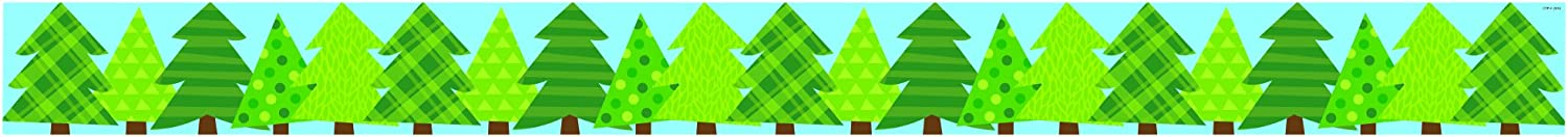 Creative Teaching Press Patterned Pine Trees (Woodland Friends) Bulletin Board Borde/Trimmer (Accent Bulletin Boards, Walls, Classrooms, Learning Spaces and More) (83861)
