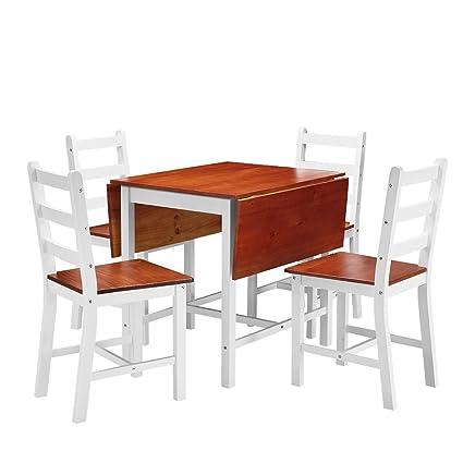 Tavolo Allungabile E 4 Sedie.Set Di Sedie Da Tavolo Da Cucina Tavolo Allungabile E 4