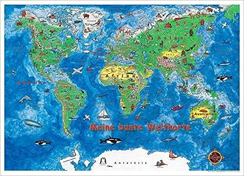 Meine Bunte Weltkarte 9783938573365 Amazon Com Books