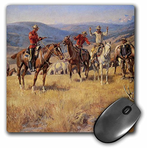(3dRose BLN American West Fine Art Collection - When Law Dulls the Edge of Chance by Charles M Russell American West - MousePad)