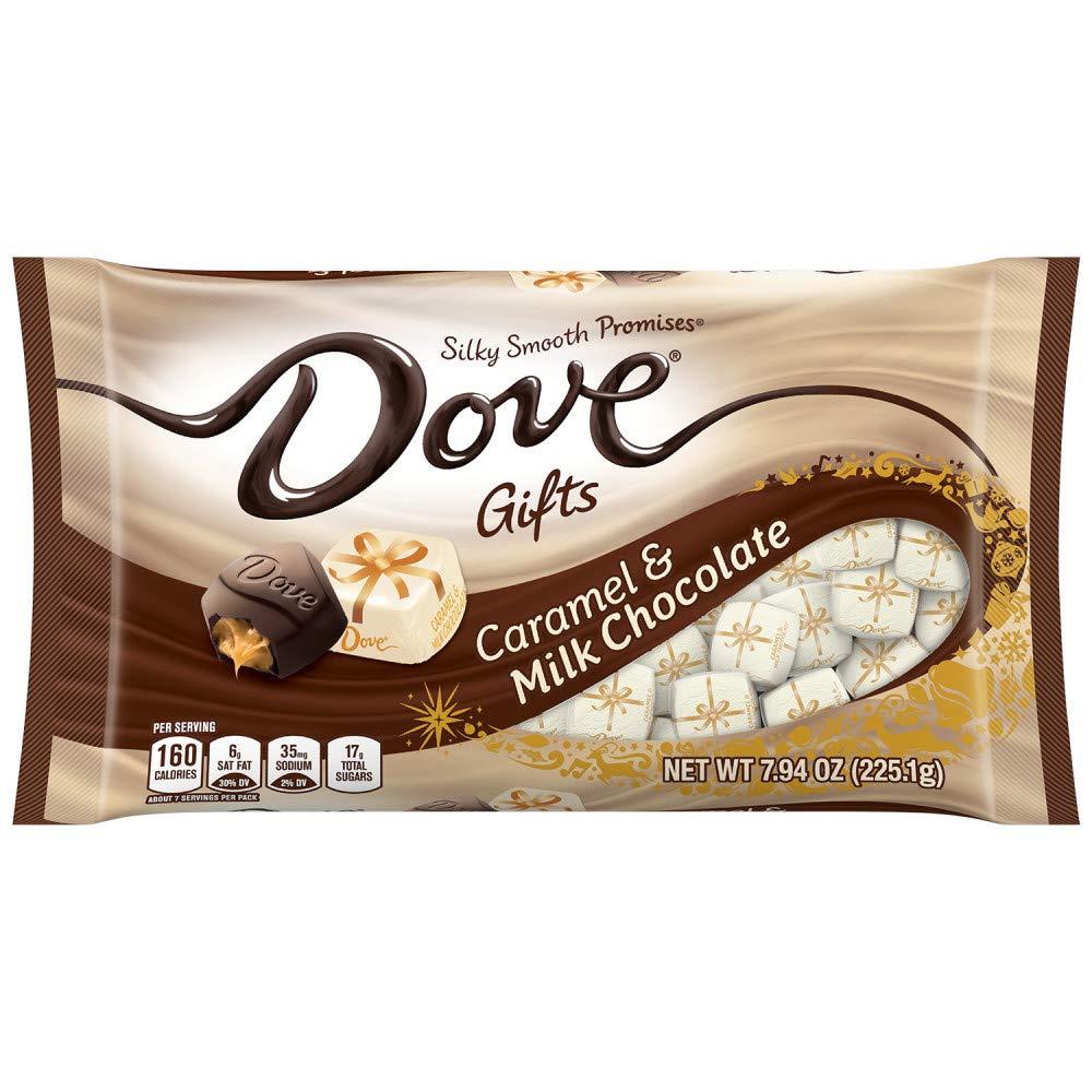 DOVE PROMISES Milk Chocolate Caramel Christmas Candy, 7.94-Ounce Bag