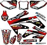 04 crf 450 graphics - Senge Graphics 2002-2004 Honda CRF 450R Mayhem Red Graphics kit