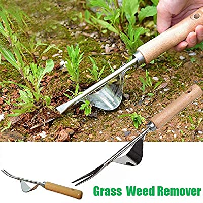 1PC Weeder,Hand Tool Garden Outdoor Removal Stainless Steel Farmland Puller Manual Digging Lawn Multifunction Weeder Transplant: Kitchen & Dining