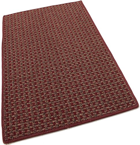 5'x8′ Tahoe New London Indoor Durable Level Loop Area Rug for the Home with Premium BOUND Polyester Edges.