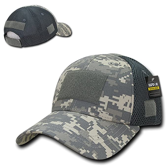 Amazon.com  Low Crown Air Mesh Tactical Cap with Loop Patch - ACU ... 962aa161a34