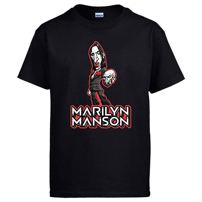 Diver Camisetas Camiseta Marilyn Manson Calavera: Amazon.es: Ropa y accesorios