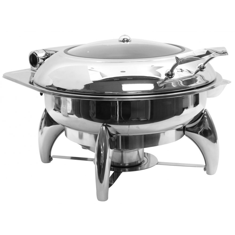 Tablecraft CW40177 Quick View Fuel Chafer with Stand and Window, 4 quart, Stainless