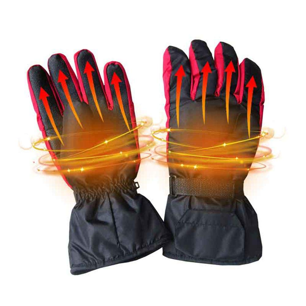 KOBWA Men Women Electric Heated Gloves,Battery Powered Warm Winter Waterproof Carbon Fiber Heating Thermal Gloves, Perfect for Indoor/Outdoor /Camping/Cycling /Motorcycle/Hiking /Skiing/Riding